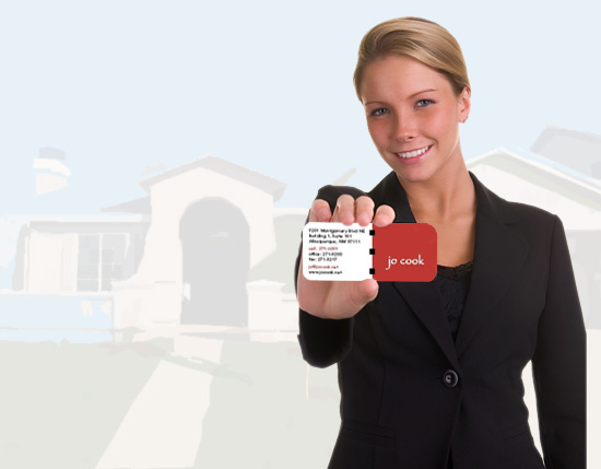 Real estate business card printing