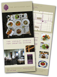 two standard sizes available margins or full bleed one or two sided printing - Standard Rack Card Size